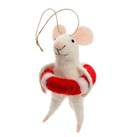 ORNAMENT MOUSE LIFEGUARD LILY
