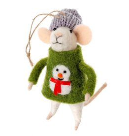 ORNAMENT MOUSE UGLY SWEATER SID