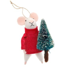 ORNAMENT MOUSE TREE TRIMMER TOM
