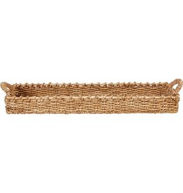 BASKET TRAY LARGE 30 INCH RECTANGLE  BANKUAN WEAVE
