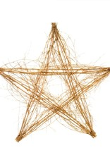 WALL HANGING SILVER GLITTER BRANCH STICK STAR SMALL