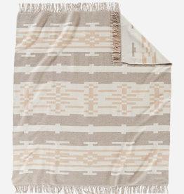 PENDLETON Sandhills Fringed Jacquard Throw Blanket