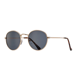 BLUE PLANET EYEWEAR SUNGLASSES ASH MATTE GOLD WITH TORTOISE ACCENTS AND GREEN-GRAY LENS