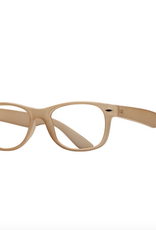 BLUE PLANET EYEWEAR GLASSES READERS CLASSIC FROST BEIGE