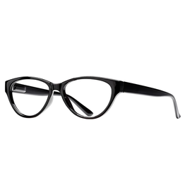 BLUE PLANET EYEWEAR BLUE LIGHT GLASSES LUCI BLACK ONYX +0.00