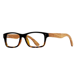BLUE PLANET EYEWEAR BLUE LIGHT GLASSES WOODLAND HONEY TORTOISE AND ONYX +0.00
