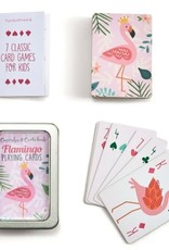 PLAYING CARDS FLAMINGO TIN STORAGE CASE