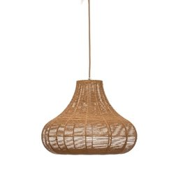 PENDANT BROWN RATTAN PEAR-SHAPE BULB