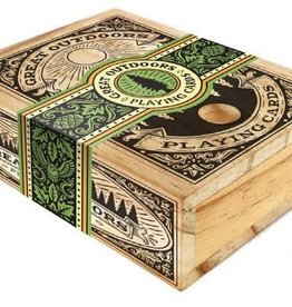CHRONICLE BOOKS PLAYING CARDS IN GREAT OUTDOORS WOOD BOX