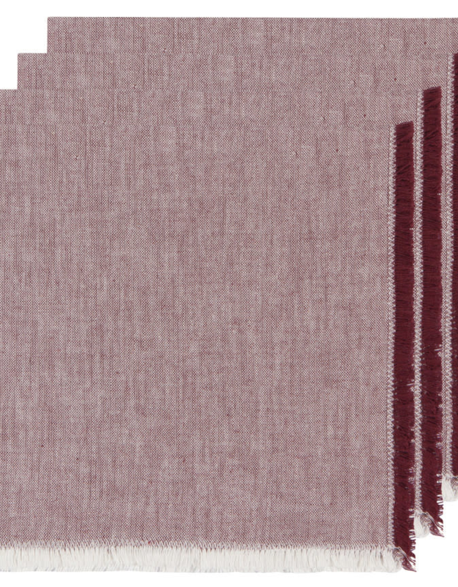 NOW DESIGNS NAPKIN CLOTH 18X18 INCH HEIRLOOM WINE PURPLE RED