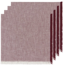 NAPKIN CLOTH 18X18 INCH HEIRLOOM WINE PURPLE RED