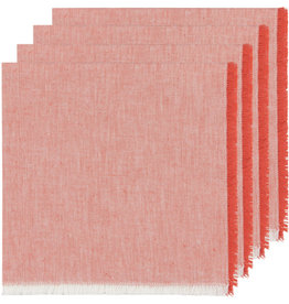 NOW DESIGNS NAPKIN CLOTH 18X18 INCH HEIRLOOM CLAY RED