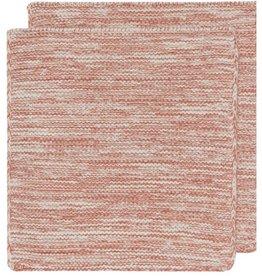 DISHCLOTH KNIT 8X8 HEIRLOOM CLAY RED