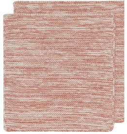 NOW DESIGNS DISHCLOTH KNIT 8X8 HEIRLOOM CLAY RED