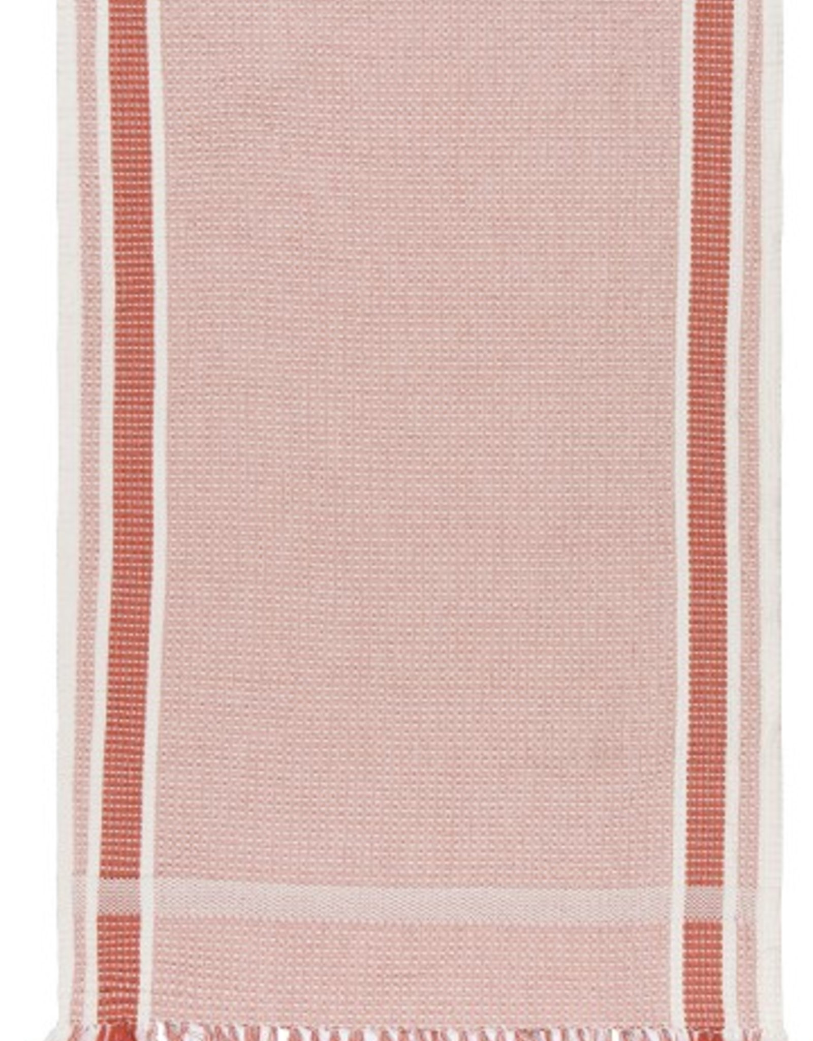 NOW DESIGNS TOWEL DISH 18X28 SOFT WAFFLE WEAVE CLAY RED