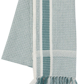 NOW DESIGNS TOWEL DISH 18X28 SOFT WAFFLE WEAVE LAGOON TEAL
