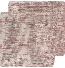 DISHCLOTH KNIT 8X8 HEIRLOOM WINE RED