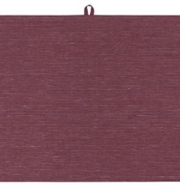 NOW DESIGNS TOWEL DISH 18X28 LINEN WINE RED