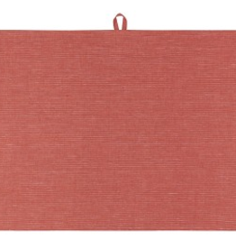 TOWEL DISH 18X28 LINEN CLAY RED