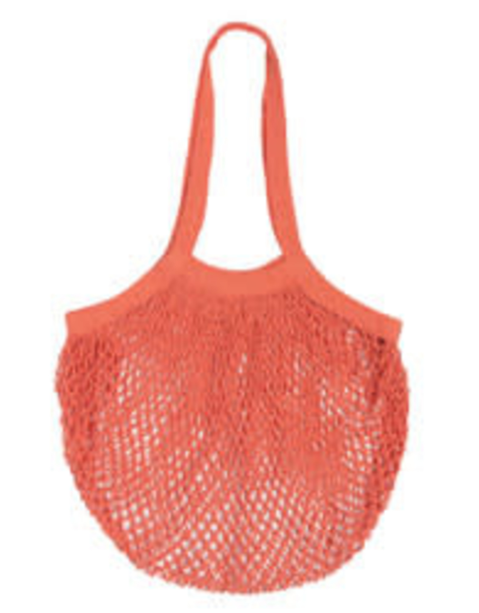 NOW DESIGNS BAG SHOPPING NET MESH CORAL PINK