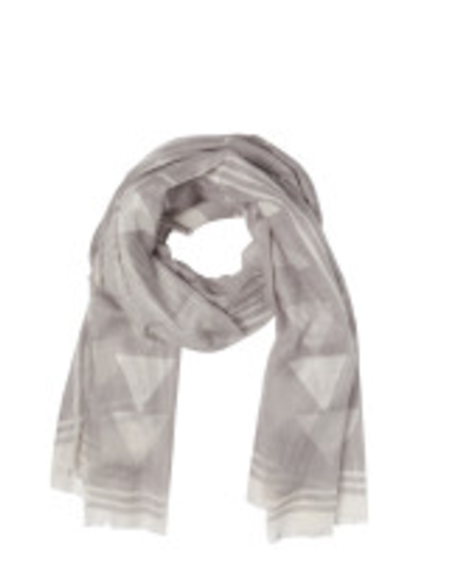 NOW DESIGNS SCARF 40X72 ECLIPSE GREY AND WHITE PATTERN