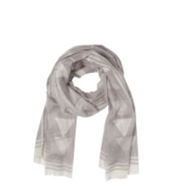 NOW DESIGNS SCARF ECLIPSE GREY AND WHITE PATTERN