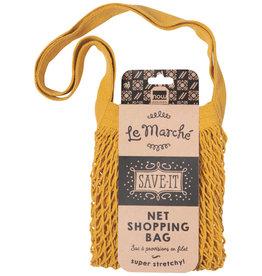 BAG SHOPPING NET MESH GOLD YELLOW