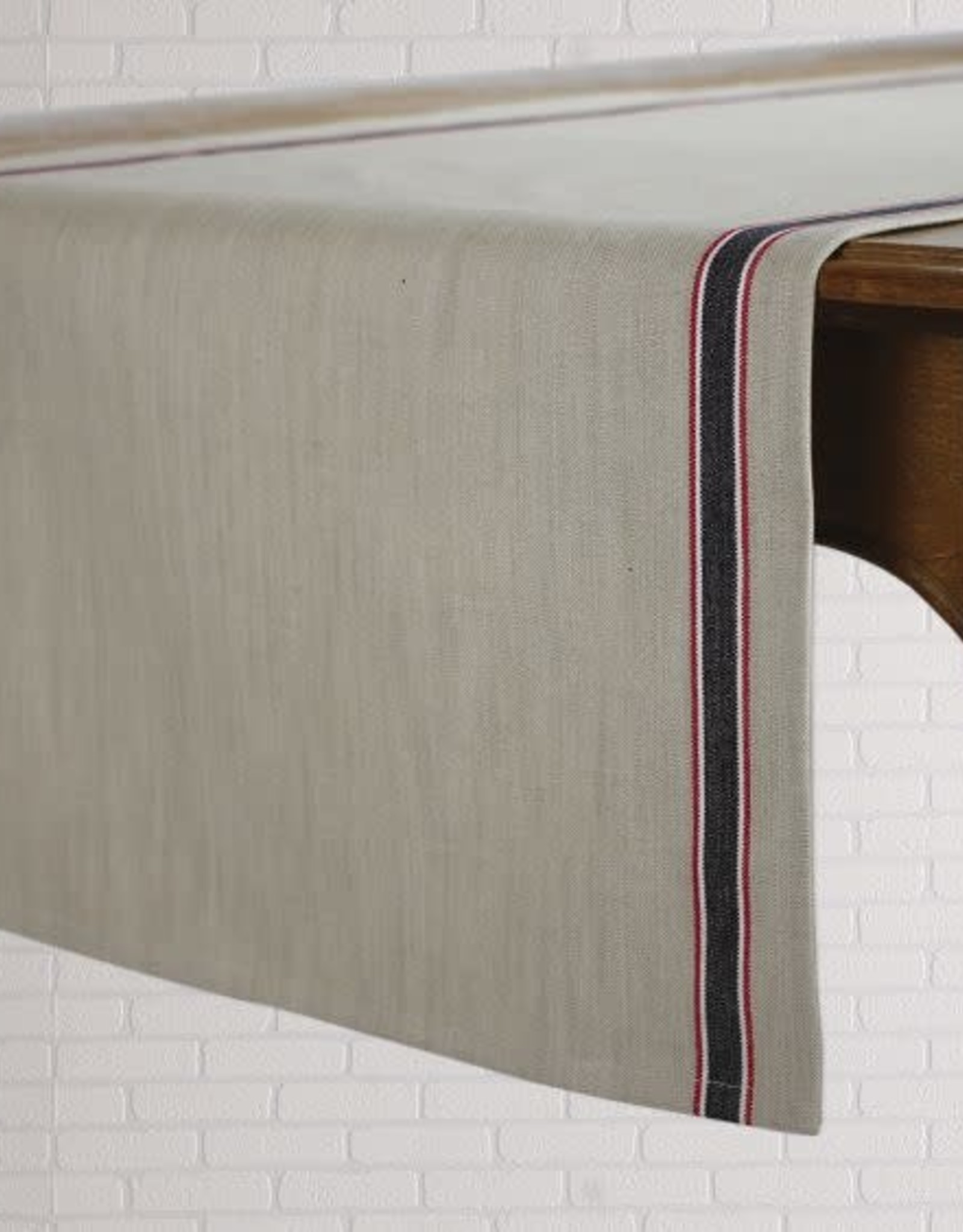 """TABLECLOTH FRENCH LAUNDRY BLACK RUNNER 19X72"""""""