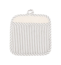 KAF HOME POT MITT METRO STRIPE PEWTER GRAY