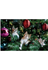 PALM PRESS NOTECARDS BOXED HOLIDAY KITTENS XMAS TREE PACK OF 10