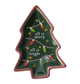 HOLIDAY TRINKET BOWLS TREE ALL IS MERRY