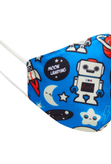 PANGO PRODUCTIONS FACE MASK KIDS CLOTH ROBOTS AND SPACESHIPS