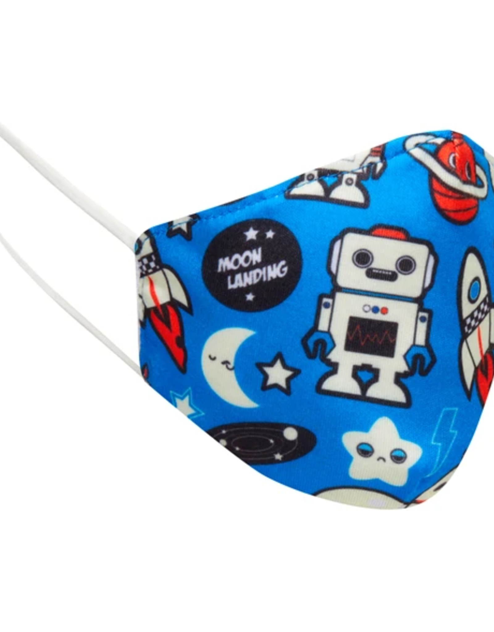 FACE MASK KIDS CLOTH ROBOTS AND SPACESHIPS