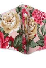 FACE MASK TWOS PINK WITH FLORALS