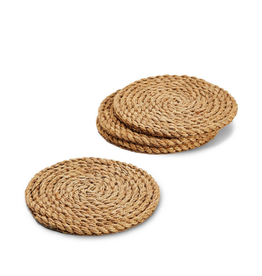 COASTERS 4 PACK FULL CIRCLE JUTE