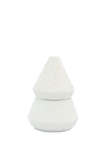 CANDLE CYPRESS AND FIR 5.5OZ SMALL WHITE TREE STACK