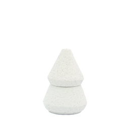 2-IN-1 CONTAINER CANDLE HOLIDAY CYPRESS AND FIR  WHITE  CERAMIC TREE STACK SMALL 5.5 OZ