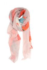 SCARF 39 X 71 INCHES WATERCOLOR CORAL