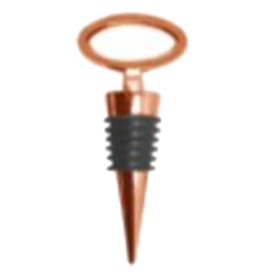 OGGI CORPORATION WINE BOTTLE STOPPER OVAL COPPER