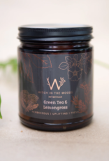 WITCH IN THE WOODS CANDLE GREEN TEA AND LEMONGRASS 7.2 OZ