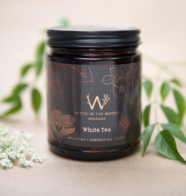 WITCH IN THE WOODS CONTAINER CANDLE WITCH IN THE WOODS WHITE TEA AMBER GLASS JAR 7.2OZ