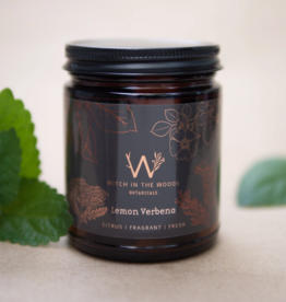WITCH IN THE WOODS CONTAINER CANDLE WITCH IN THE WOODS LEMON VERBENA AMBER GLASS JAR 7.2OZ
