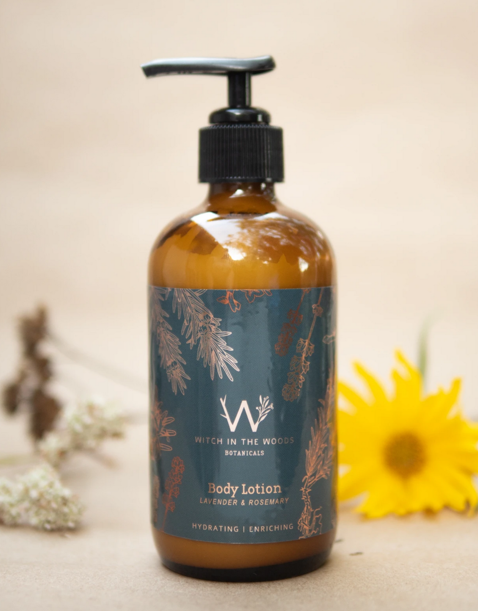 WITCH IN THE WOODS LOTION BODY ROSEMARY AND LAVENDER 8 OZ