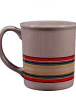 PENDLETON MUG 12 OZ CAMP STRIPE CERAMIC MATTE GRAY