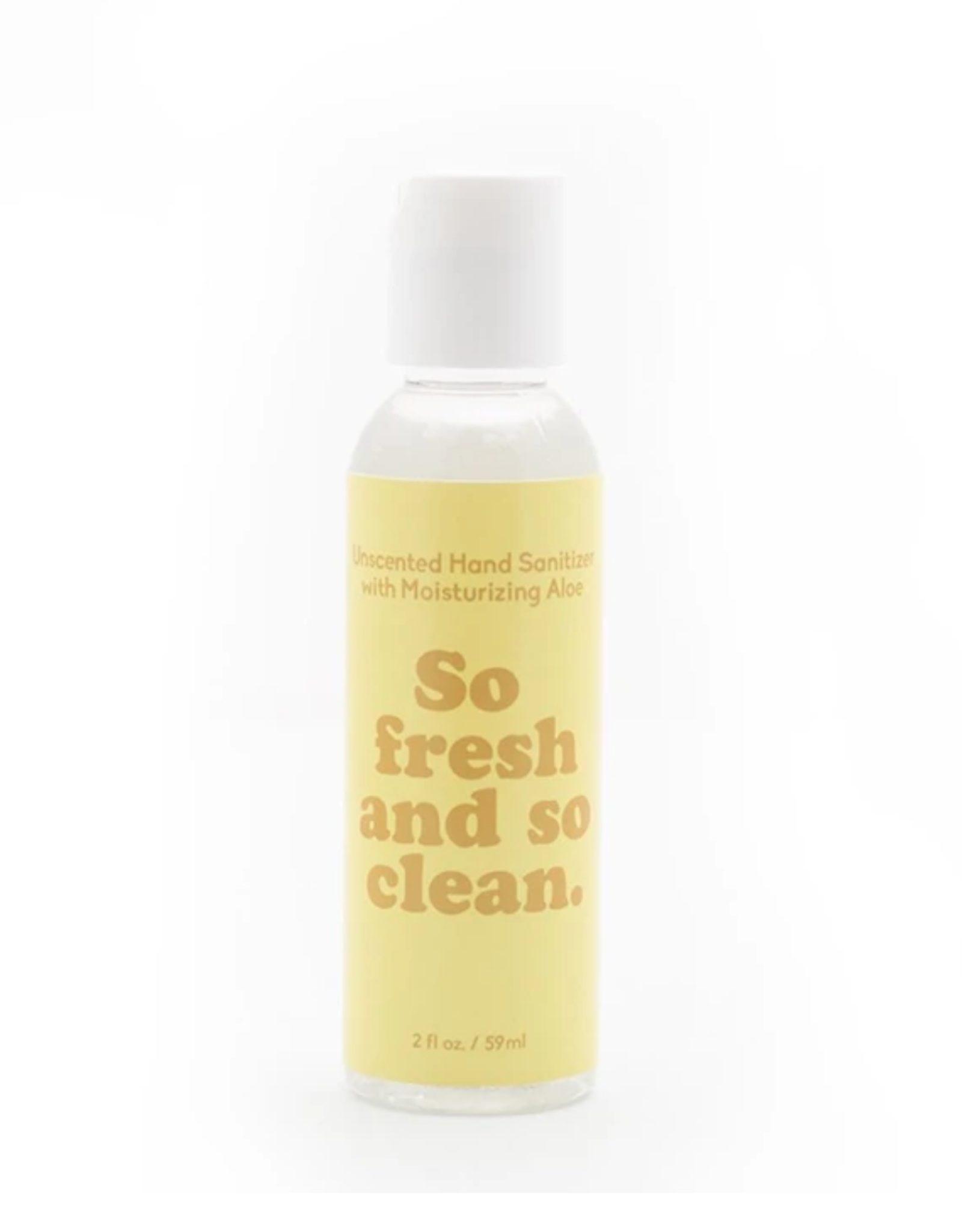 HAND SANITIZER PHRASES SO FRESH AND SO CLEAN YELLOW  BOTTLE 2OZ