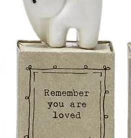 FIGURINE ANIMAL INSPIRATIONAL GIFT BOX - ELEPHANT