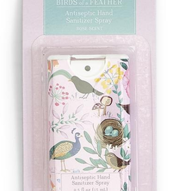 HAND SANITIZER SLIM BIRDS OF A FEATHER ROSE PINK