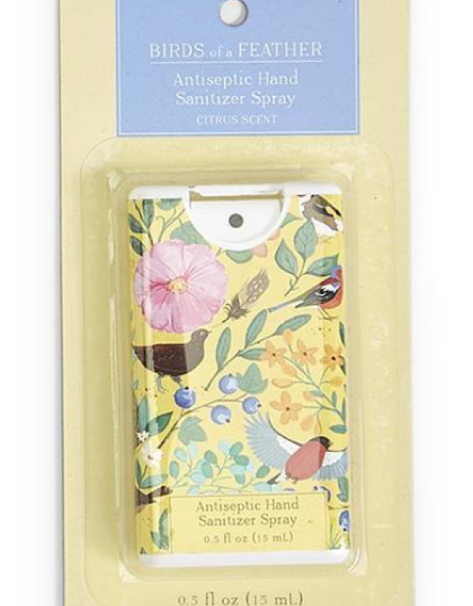HAND SANITIZER SLIM BIRDS OF A FEATHER CITRUS YELLOW