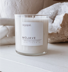 AGAPE CANDLES CONTAINER CANDLE AGAPE MOJAVE CLEAR GLASS CONTAINER 11OZ