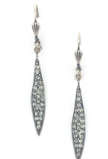 LA VIE PARISIENNE INC EARRING SPEAR WITH CRYSTALS ON FRENCH HOOK SILVER